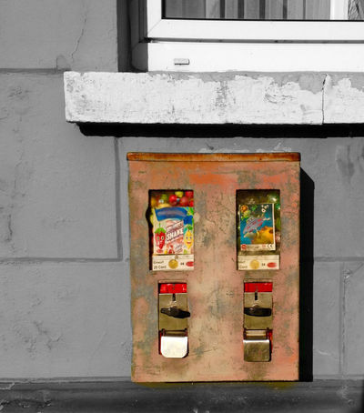 Very old gumball machine in Germany Architecture Automat Black And White Bubble Gum Building Exterior Built Structure Chewing Gum Chewing Gum Vending Machine Colorful Creativity Germany Green Color Gum Gumball Man Made Object Multi Colored Old Outdoors Red Retro Sweet Food Vintage Weathered Metal Window