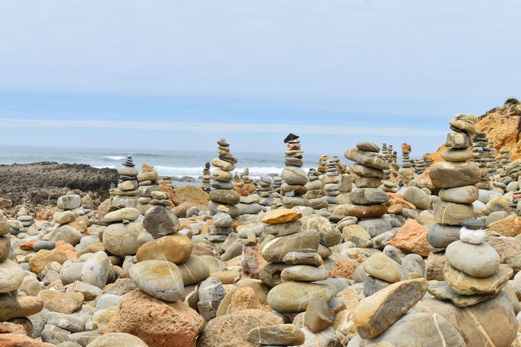 stonemen stone Steinmännchen Steine Stone Rock Solid Land Beach Nature No People Water Rock - Object Balance Beauty In Nature Scenics - Nature Sky Stone - Object Tranquility Tranquil Scene Pebble Stonemen Atlantic Ocean The Great Outdoors - 2019 EyeEm Awards