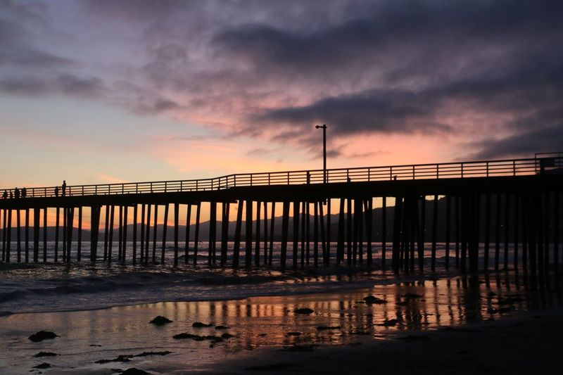 Ocean Sky Connection Water Built Structure Cloud - Sky Bridge Architecture Sunset Sea No People Pier Beauty In Nature Tranquility Outdoors Scenics - Nature Nature Tranquil Scene