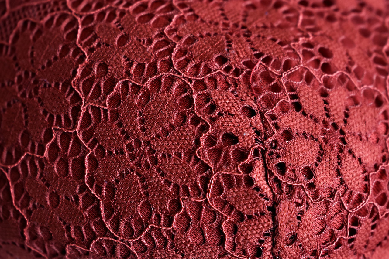 no people, close-up, red, textile, backgrounds, pattern, full frame, textured, extreme close-up, ball, indoors, basketball - sport, leather, material, still life, brown, macro, sport