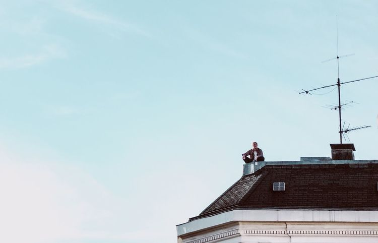 - URBAN BREATHING SPACE- Breathing Space The Week On EyeEm Architecture Roof Built Structure Building Exterior Communication Low Angle View Day Antenna - Aerial Outdoors Television Aerial Wireless Technology Sky Telecommunications Equipment Tiled Roof  Clear Sky Technology No People Rooftopping Rooftop Check This Out Hamburg Leisure Activity Mix Yourself A Good Time The Street Photographer - 2018 EyeEm Awards
