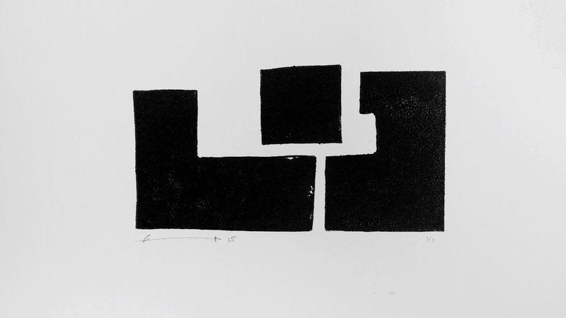 Trois formes libres Labo DTF ArtWork Linogravure