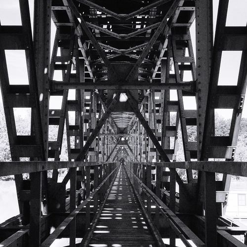 Full frame shot of footbridge