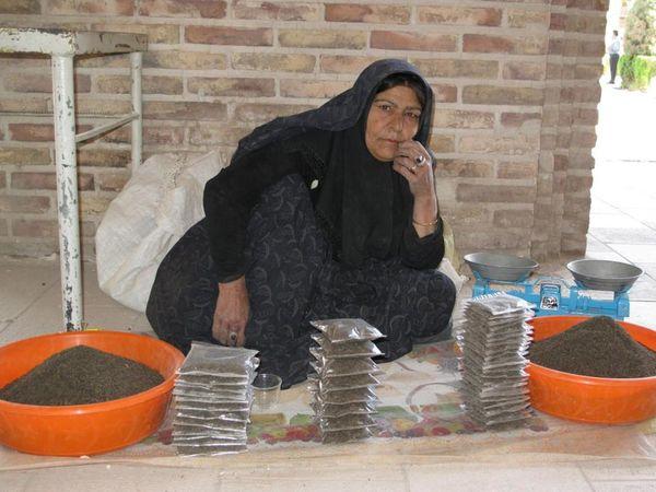 Badger Bazar Brick Wall Iran Kermanshah One Person One Woman Only People Vendor