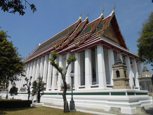 Architecture Bangkok Thailand. Building Exterior City Day History No People Outdoors Temple Architecture Tree Wat Suthat