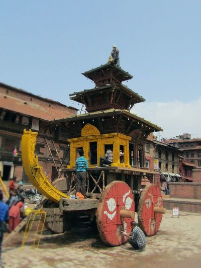 Chariot Tug Of War Hindu Culture Hindu Festival Restoration Project Artistic Structure Place Of Worship Religion Sky Architecture Building Exterior Built Structure Pagoda Historic