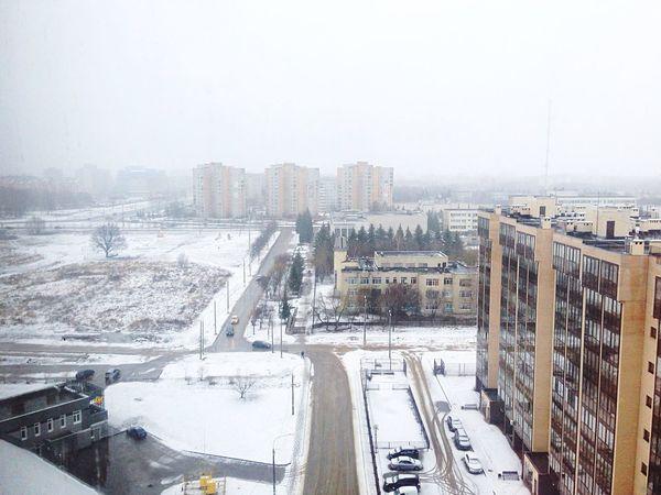 Obninsk Rusya Russia Snow Manzara View Обнинск Россия зима Kış Winter