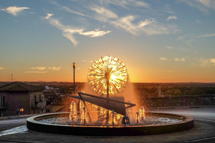 Sky Building Exterior Built Structure Ferris Wheel Sunset Water Architecture Cloud - Sky Outdoors No People Sea Nautical Vessel City Day Cityscape Nature EyeEmNewHere Art Is Everywhere Break The Mold BYOPaper! Neon Life