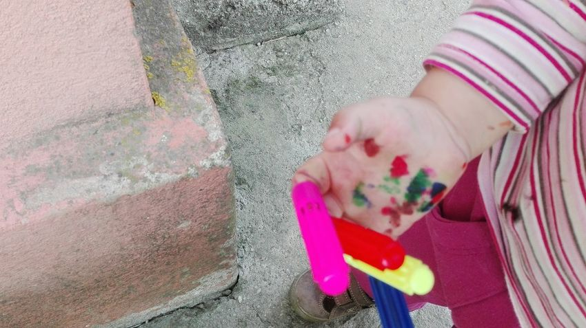 Outdoors Colors Painting Milky Way Kid Hand  Millennial Pink Millennial Pink Millennial Pink Millennial Pink EyeEmNewHere