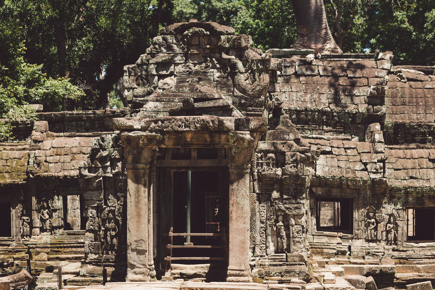Siem Reap Cambodia Angkor Architecture Built Structure History The Past Building Ancient Building Exterior Place Of Worship Belief Religion Old Ruin Old Day No People Travel Destinations Ancient Civilization Tourism Travel Tree Outdoors Archaeology Ruined Deterioration