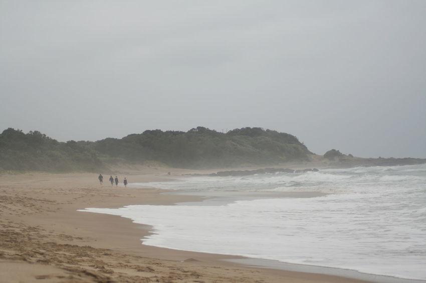 Coastline Foggy Weather Holiday Beach Bonding Time KwaZulu-Natal Coast Outdoors Sand Scenics Sea Shore Tranquility Walking Lost In The Landscape