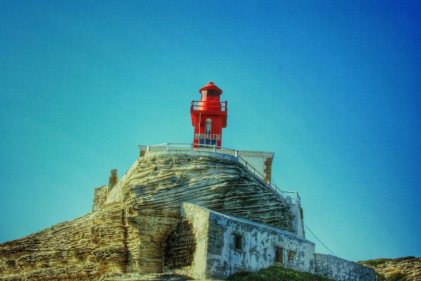 Phare Mer Bonifaccio Corse Sky Sky Collection Lighthouse