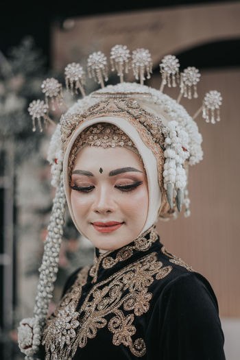 Javanese traditional clothes from indonesia