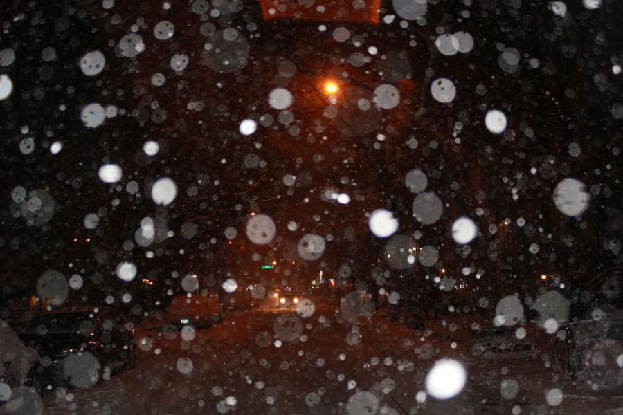 East Village New York New York City Snow Flakes Snow Flakes ❄ Snow Storm 2013 Nemo Snow ❄