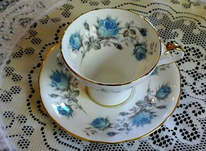 Blue Blue Rose Blue Roses Collectibles Design Drink Floral Pattern No People Rose Tea Rose Tea Cup Roses Still Life Still Life Photography StillLifePhotography Tea Tea Cup Tea Cup, Tea Cups Tea Party Tea Time Tea Time! Tea Time. Vintage Vintage China Vintage Tea Cups