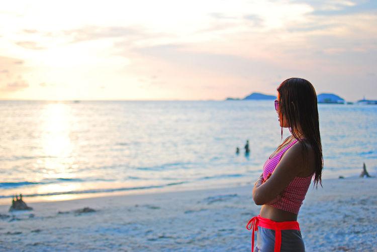 Sunset at Chon buri, Thailand Beach Life Beach Thailand Beach Beachphotography On Beach Sunset
