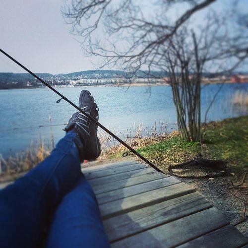 Relaxing after my first catch.... Fish Fishing Sverige Gädda  Pike Munksjön