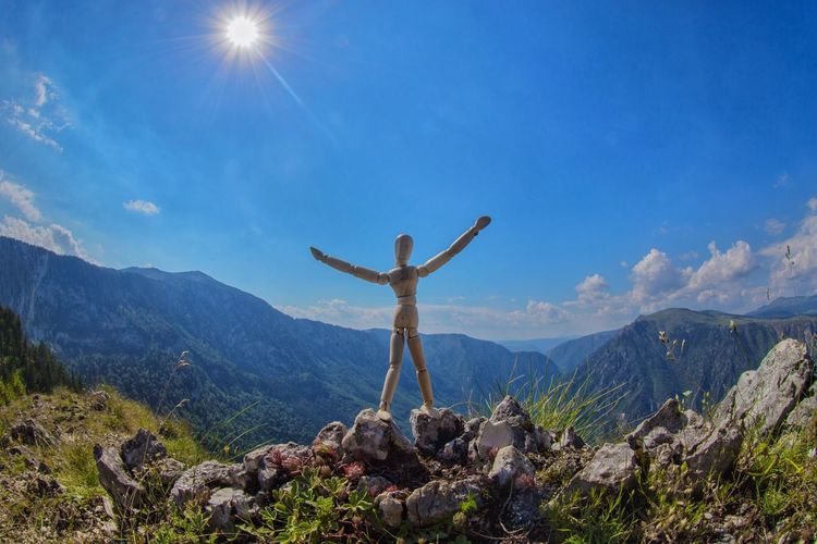 At the peak of emotions Panoramic View Montenegro Woodyforest Mountain Sky Leisure Activity Scenics - Nature Mountain Range Beauty In Nature One Person Tranquil Scene Landscape Vacations Hiking Real People Holiday