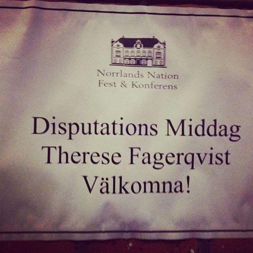 Vem är Disputation och varföre har hon middag? @uppsalauniversity Norrlandsnation Särskrivning Skrivihop