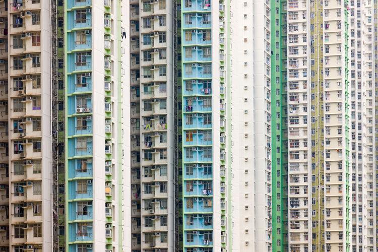 Full frame shot of apartment building
