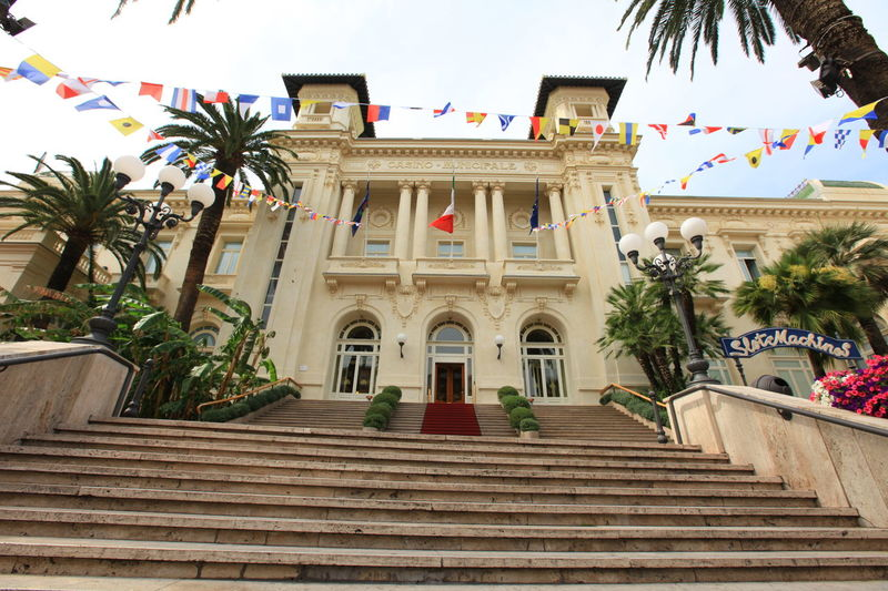 San Remo, Italy San Remo Architecture Building Exterior Built Structure Day Italy Low Angle View No People Outdoors Palm Tree Sky Staircase Steps Steps And Staircases Tree
