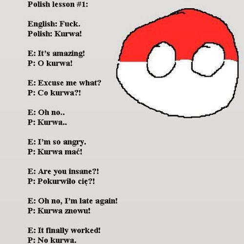 Learnpolish Polska Polishlanguage Kurwa Lesson