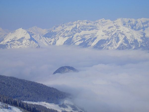 Austria Beauty In Nature Clouds Cold Temperature Day Landscape Mountain Nature No People Outdoors Over The Clouds Scenics Sky Snow Snowcapped Mountain Weather Winter