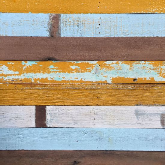 Yellow Backgrounds Full Frame Textured  Pattern Wall - Building Feature Wood - Material Close-up Damaged Wood Run-down Brown Blue Paint Striped Plank No People