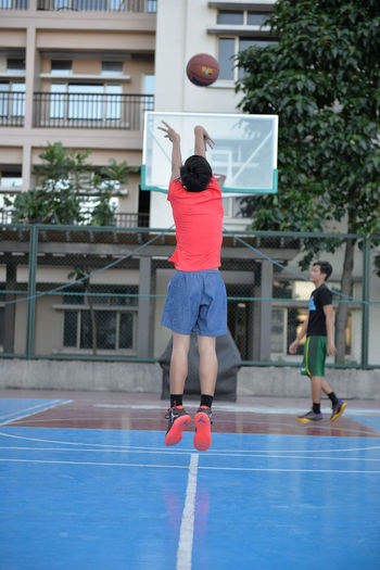 Activity Amenities Baby Baby Boy Basketball Basketball Court Basketball Game Blue Condominium Condominiums Day Time Eyeem Philippines Hoops Outdoors People Practice Toddler