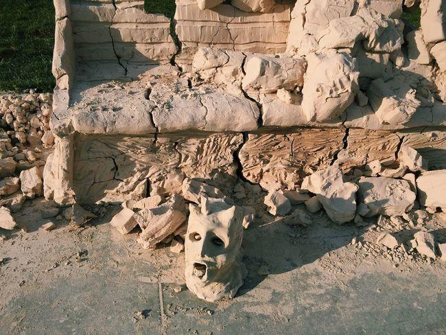 Strange Head Off Clay Sculpture Under My Feet Original Experiences Summertime Broken Beheaded King The Mix Up