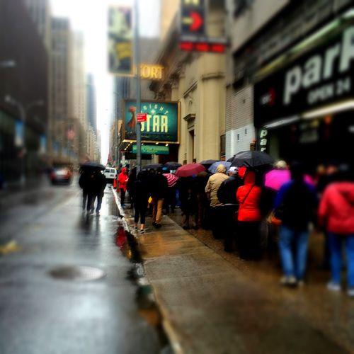 NYC Photography Rainy Days Street Photography Times Square NYC Steve Martin Play