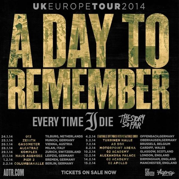 How could the A Day To Remember gig get any better? By adding The Story So Far as support ? @whereisadtr ADTR ADayToRemember Thestorysofar