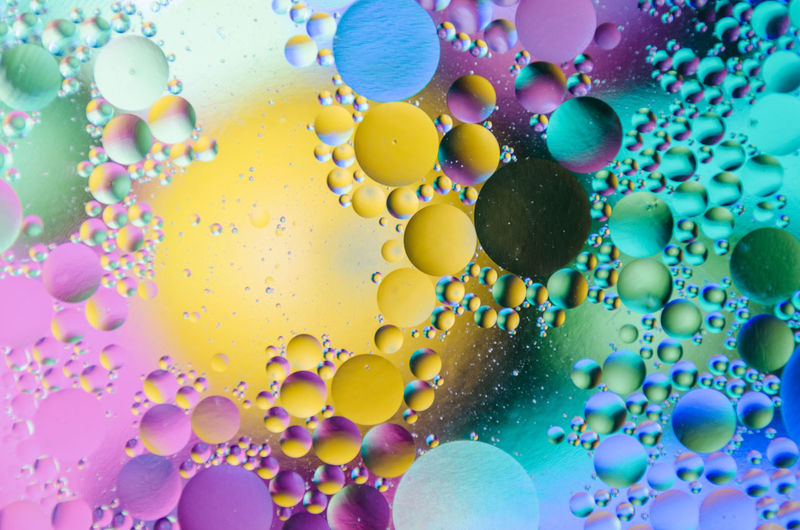 Full Frame Shot Of Colorful Bubbles