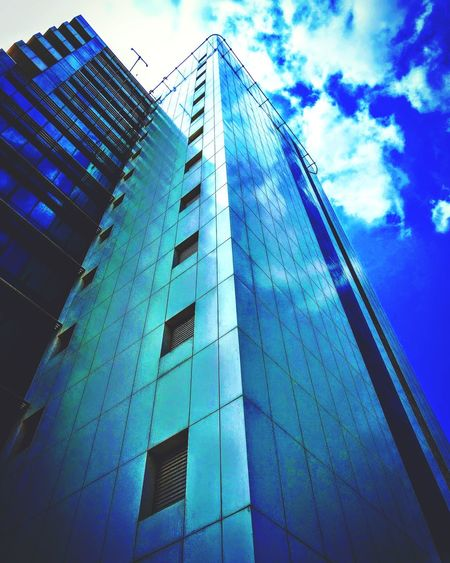 Architecture Modern Built Structure Sky Corporate Business Cloud - Sky Day Blue No People Building Exterior Skyscraper Office Office Building Reflection Reflection_collection Staypositive Look Up And Thrive