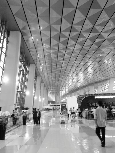 New Terminal Jakarta Airport Blackandwhite Photography