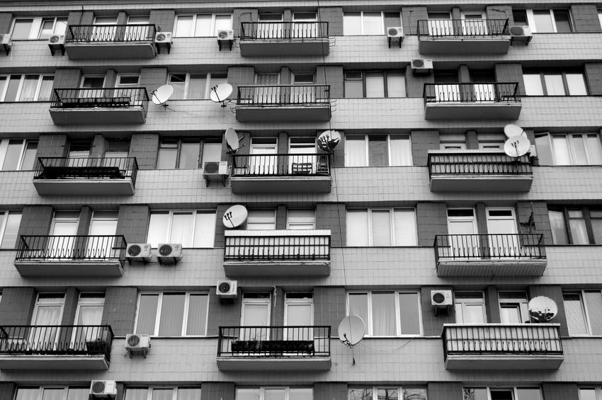 Architecture Balcony Building Building Exterior Built Structure City Life Day Geometry In A Row No People Normal People Scare Me Outdoors Urban Window