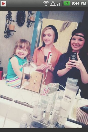 idk whats happening with my face.. but sisters <3 Sisters