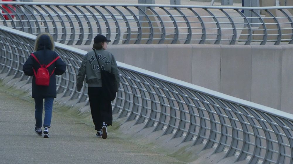 """""""Travelers, there is no path, paths are made by walking."""" ― Antonio Machado Two People Walking Blackpool Promenade Blackpool Seafront Outdoors Rear View Full Length People Day Togetherness Architecture Railings Curved  Great Design Beautiful Curves  Pattern Tourism Cold And Windy"""