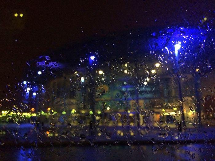 MOVIE Rainy Days Raindrops Night Lights