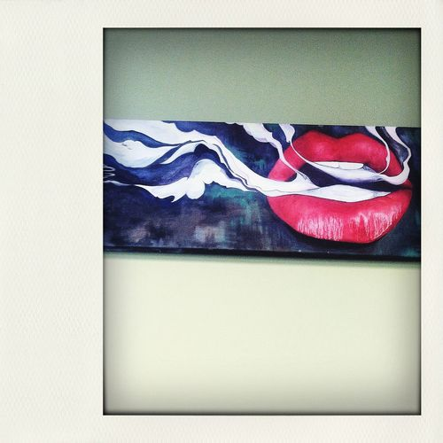 Cannabis Community Smoke Lips Portrait