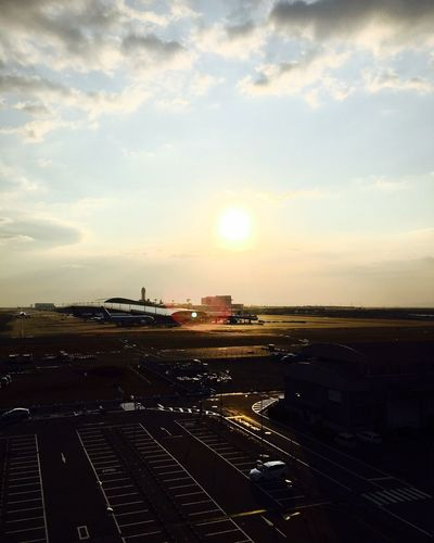 Kansai International Airport Airport Kansai International Landmark Airplane Sunset Sky