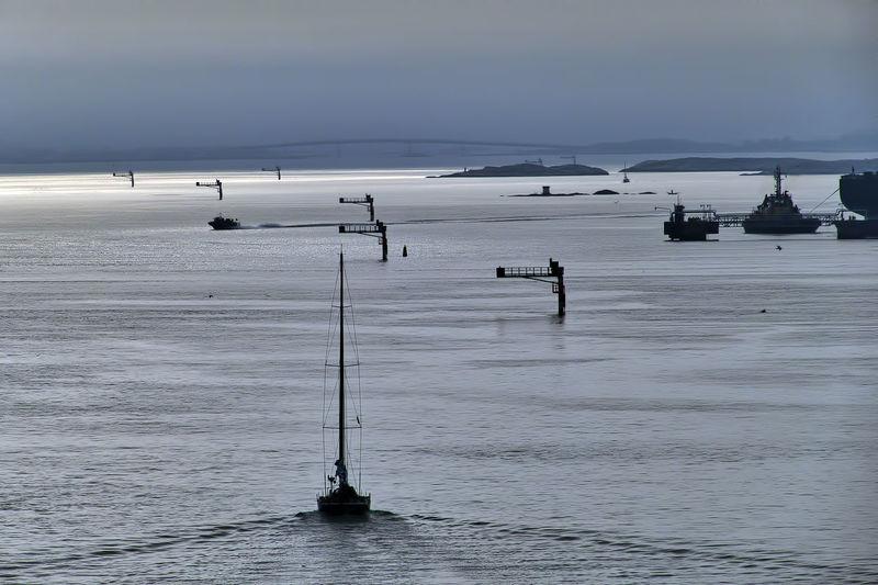 Horizon Over Water Mode Of Transport Nature Nautical Vessel Scenics Sea Sky Water