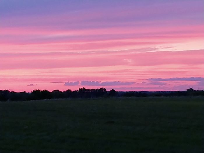 LG V30 Pretty In Pink Sunset_collection Sunset_captures Sunset Multi Colored Rural Scene Pink Color Field Pastel Colored Romantic Sky Sky Only