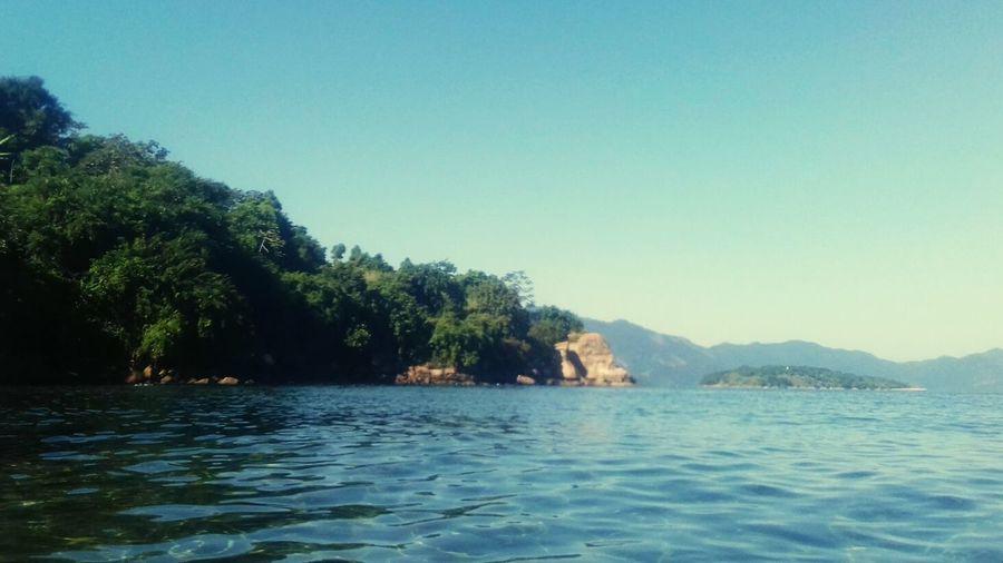 Tree Water Mountain Sea Clear Sky Blue Sky Landscape