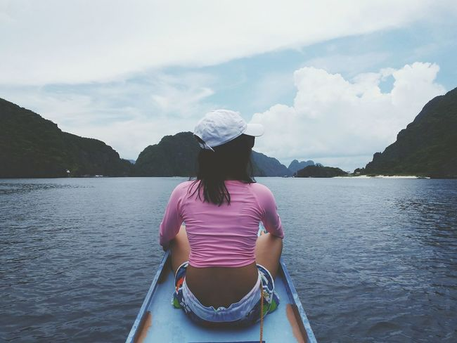 California girl! Rear View One Person Water Tranquility Young Adult Nature Sky Elnidopalawan Travel Destinations Teal Sea Vacations Travel The Week On EyeEm EyeEm Gallery EyeEmPhilppines EyeEm Eyeem Philippines EyeemPhilippines Philippines PalawanPhilippines Beauty In Nature Day Outdoors Mountain Lost In The Landscape Connected By Travel Perspectives On Nature