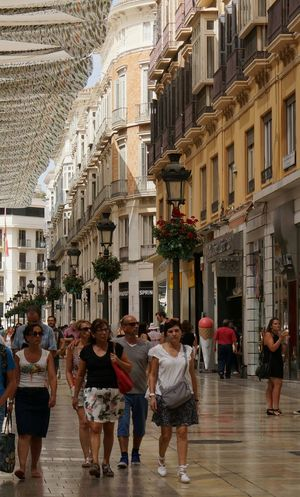Shopping street in Malaga: Calle Marqués de Larios. Malaga SPAIN Shopping ♡ Shopping Street Sightseeing Traveling Architecture Old City Hanging Out Summer Summertime City Life Cityscapes Citylife