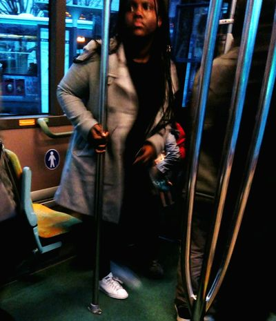 Showcase: February Commuting Riding The Bus Woman Winter Ratp Paris, France  Youth Of Today Portrait Of A Woman Portrait Portraits Up Close Street Photography Showing Imperfection The Street Photographer - 2016 EyeEm Awards My Commute Working Girl Girl Power Uniqueness Neon Life