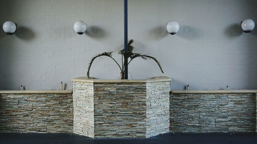 No People Architecture Day Lamp Palm Wall - Building Feature Wall Atrium Hotel Mandurah Western Australia