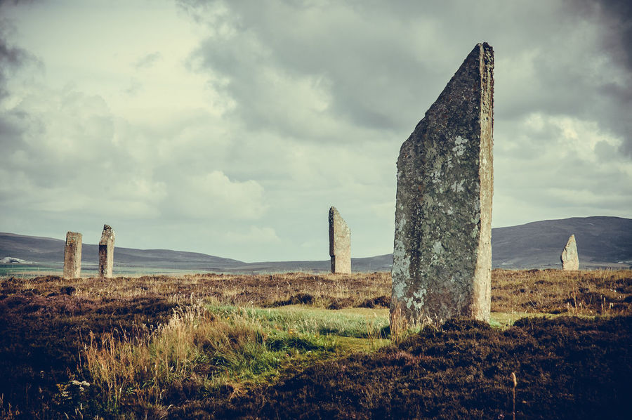 Stenness standing stone Ancient Civilization History Landmark Megalithicsite Mystery Mystic Non-urban Scene Old Orkney Outdoors Prehistoric Scotland Stenness