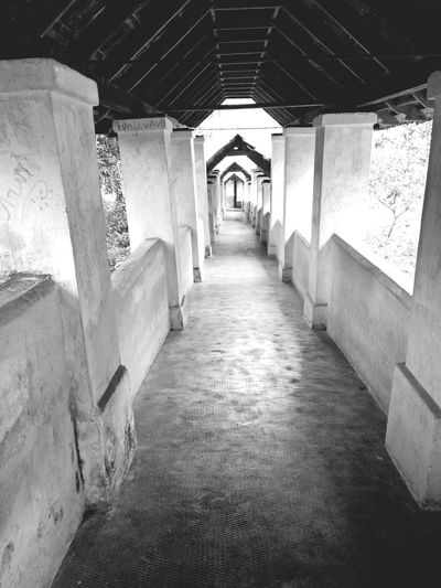 Old Corridor Historic Place Historic Value Hill Palace Architecture No People Vintage Kerala